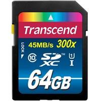 Transcend 64GB UHS-I SDXC 300x Class 10 Hafıza Kartı