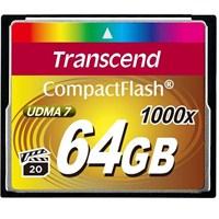 Transcend 64GB 1000x Compact Flash Kart (Type I)