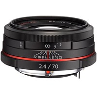 Pentax 70mm f/2.4 Limited Objektif Siyah