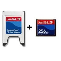 Sandisk 256MB Ultra II Compact Flash Card + Sandisk PCMCIA-CF Adaptör
