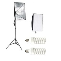 Fancier Fan 638 30W Spiral 2 Li Set Sürekli Video Işık 40X60 Softbox