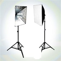 Fancier Fan 639 65W Spiral 2X4 Set Sürekli Video Işık 40X40 Softbox