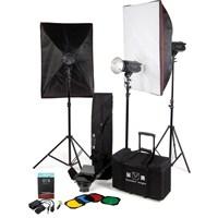Golden Eagle 300-E Kit Profesyonel 3'Lü Paraflash Set