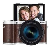 Samsung NX300M 18-55mm Kit Lens + Flaş Smart Aynasız DSLR Fotoğraf Makinesi