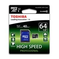Toshiba 64Gb Micro Sdxc Uhs-1 C10 40Mb/Sn