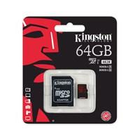 Kingston 64GB MicroSDHC UHS-I U3 Hafıza Kartı (90MB/sn) SDCA3/64GB