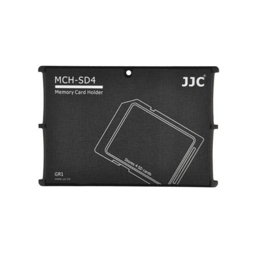JJC Memory Card Case Hafıza Kartı Tutucu (4 SD Kart - Siyah)