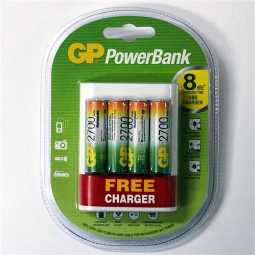 Gp Power Bank U411 2600Mah Aaa 4 Adet Pil Usb Free Charger Hediye