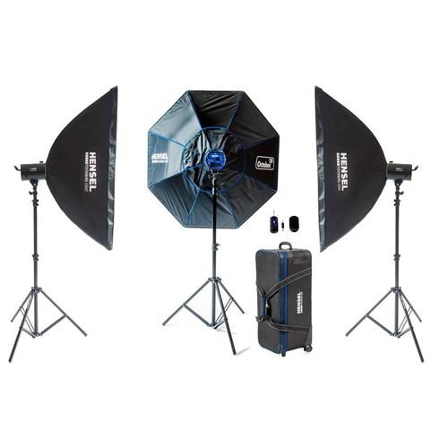 Hensel Himax 500-800W 3'Lü Paraflaş Set