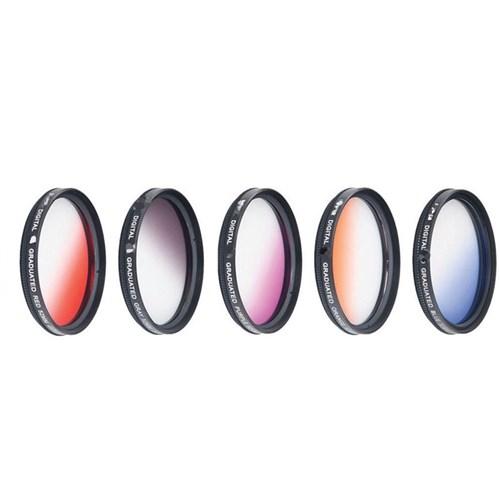 Dhd Canon 18-55Mm Lens İçin Gradual Degrade Kademeli 5 Li Efekt Filtre Seti
