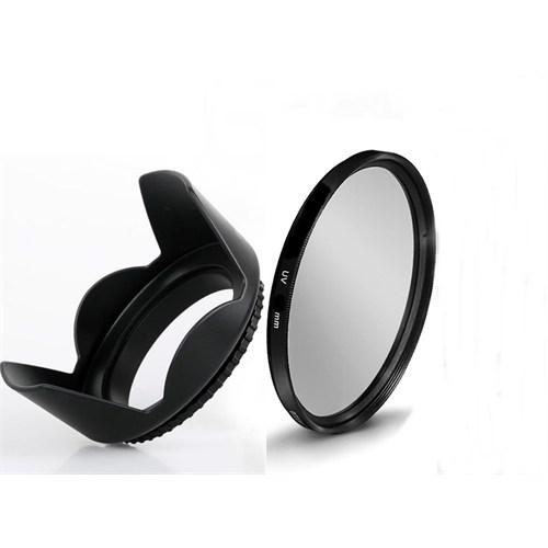 Beta Nikon 18-55Mm Lens İçin Uv Filtre + Yaprak Parasoley