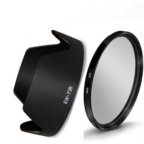 Beta Canon 18-135Mm Lens İçin Uv Filtre + Ew-73B Parasoley