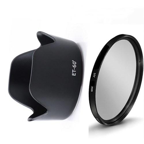 Beta Canon 55-250Mm Ve 75-300Mm Lens Ler İçin Uv Filtre + Et-60 Iı Parasoley
