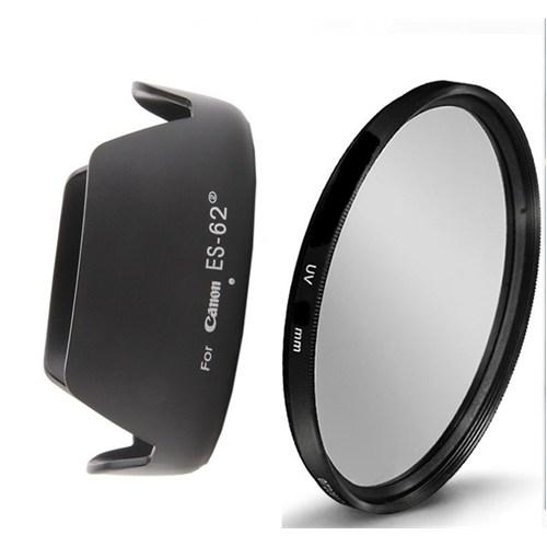 Beta Canon 50Mm F1.8 Iı Lens İçin Uv Filtre + Es-62 Iı Parasoley