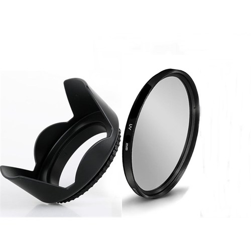 Beta 58Mm Lens Ler İçin Uv Filtre + Yaprak Parasoley