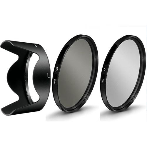 Beta Nikon 18-105Mm Lens İçin Koruyucu Uv + Cpl Polarize Filtre + Hb-32 Parasoley