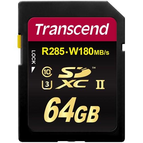 Transcend 64Gb Sdxc Class3 Uhs-Iı 1900X 285/180Mb