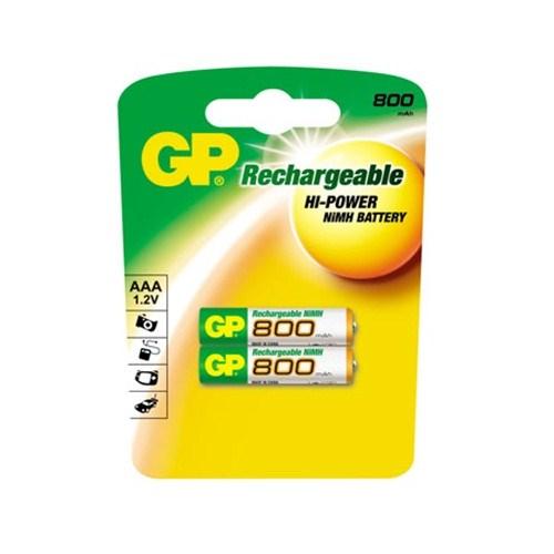 GP 800 NI-MH Şarjlı İnce Kalem Pil (AAA) 80AAAHC-UC2