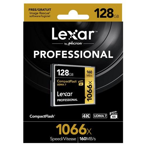 Lexar 128Gb 1066X Professional Cf - 160 Mb/Sn. Compackt Flash Hafıza Kartı