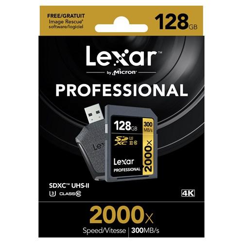 Lexar 128Gb 2000X Professional Sdxc Uhs-1-300Mb/Sn. (Class 10) U3 Hafıza Kartı