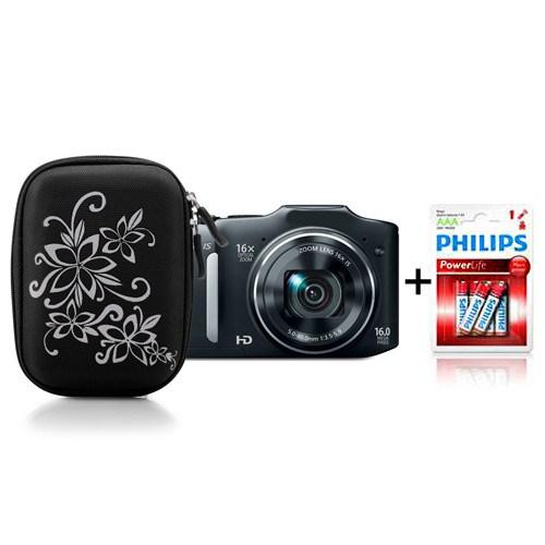 Addison 300239 Siyah Kamera Çantası + Philips LR03P6B/10 Alkaline İnce AAA 6'lı Pil