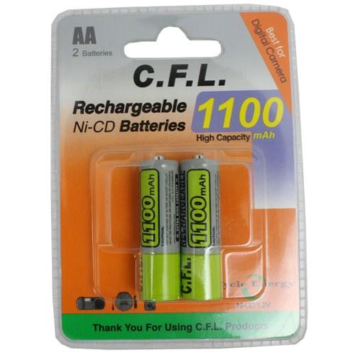 CFL Şarjlı 1100 mAh AA Kalem Pil