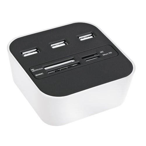 Codegen USB 2.0 Kart Okuyucu + 3 Usb Port Beyaz