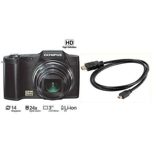 """Olympus SZ-14 14 MP 24x Optik Zoom 3.0"""" LCD Dijital Fotoğraf Makinesi 3D ve HD Çekim Modu (HDMI Kablo Hediye )"""