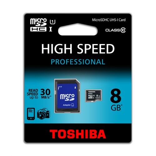 Toshiba 8 GB UHS-1 Class-10 Profesyonel Micro SD Hafıza Kartı