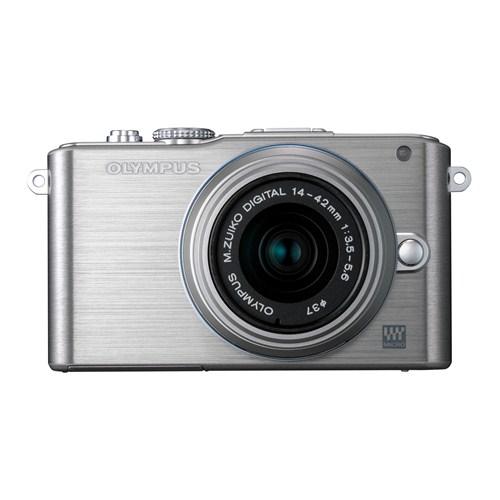 Olympus E-PL3 Gümüş+14-42mm+40-150mm Double Zoom Kit 12 MP Aynasız SLR Dijital Fotoğraf Makinesi