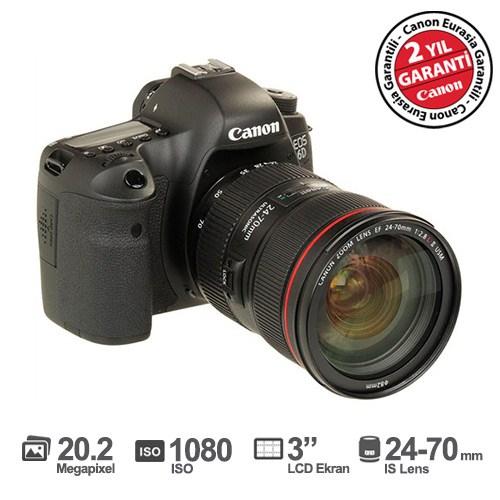 "Canon EOS 6D 24-70mm f/4 L IS 20.2 MP 3.0"" LCD DSLR Dijital Fotoğraf Makinesi"
