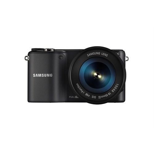 """Samsung NX2000+18-55 Lens + Harici Flaş 20,3 MP 3.7"""" Dokunmatik LCD Ekran Aynasız Profesyonel Dijital Fotoğraf Makinesi (wifi Özelliği)"""