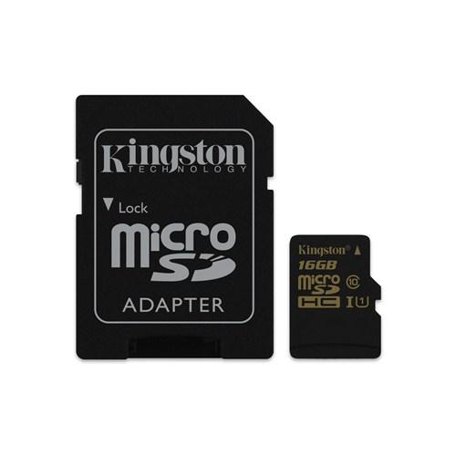 Kingston 16GB MicroSDHC Class 10 UHS-I Hafıza Kartı SDCA10/16GB