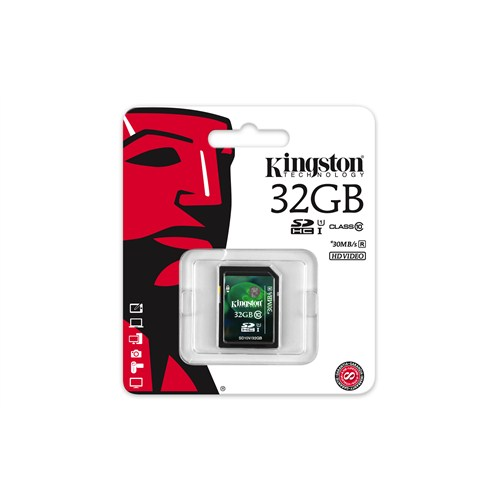 Kingston 32GB SDHC Class 10 UHS-I Hafıza Kartı SD10V/32GB