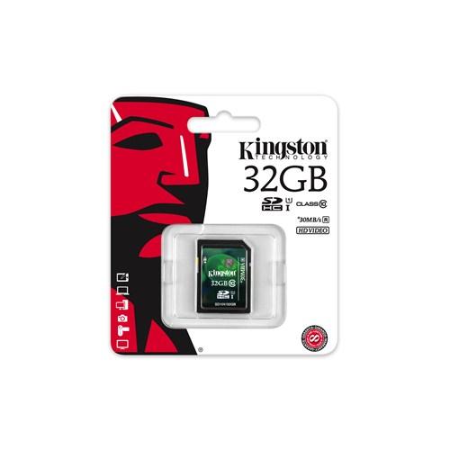 Kingston 32GB SDHC Class 10 UHS-I Hafıza Kartı SD10V/32GB