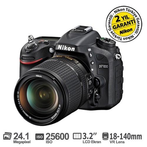 Nikon D7100 18-140mm VR Kit 24,1 MP 3,2'LCD Ekran Dijital SLR Fotoğraf Makinesi