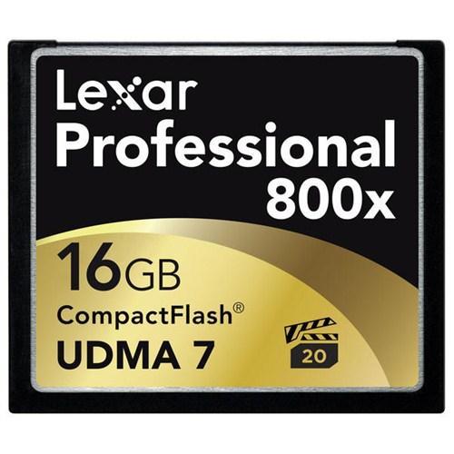 Lexar 16GB 800x Professional Compact Flash Hafıza Kartı (LCF16GCRBEU800)