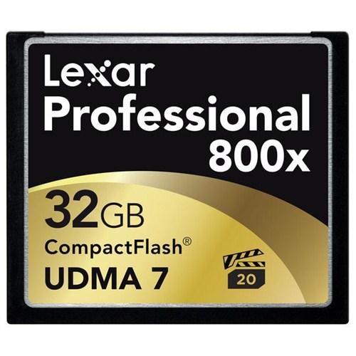 Lexar 32GB 800X Professional Compact Flash Hafıza Kartı (LCF32GCRBEU800)