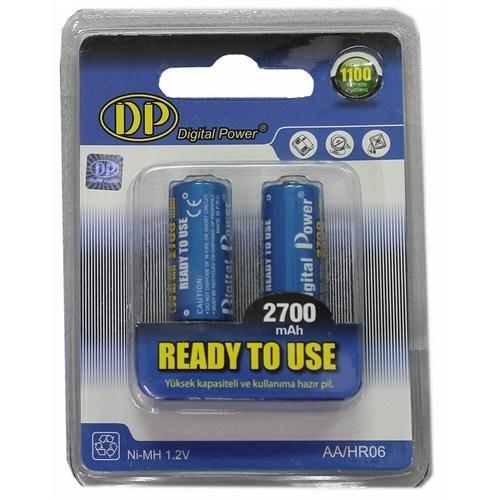 Digital Power DP-2700 2xAA 2700 mAh Şarj Edilebilir Pil