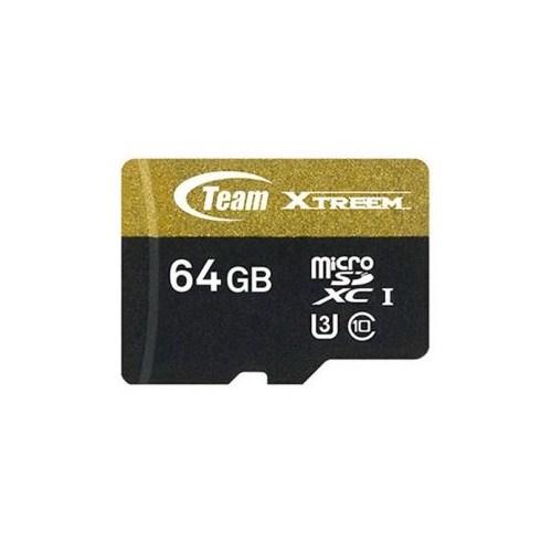 Team Xtreem 64GB 4K UHD ile Tam Uyumlu Micro SDXC U3 90/45 MB/s 700 IOPS Flash Hafıza Kartı (TMMSD64GU390)