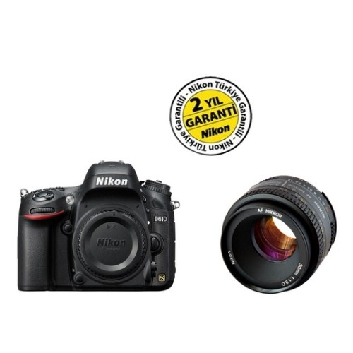 Nikon D610 Body Dijital SLR Fotoğraf Makinesi + 50MM f/1,8D Lens Kit