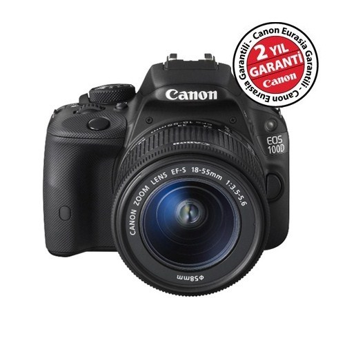 Canon Eos 100D 18-55mm Kit 18 MP Dijital SLR Fotoğraf Makinesi