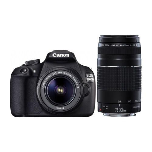 Canon EOS 1200D 18-55+75-300mm SLR Dijital Fotoğraf Makinesi (İthalatçı Garantili)