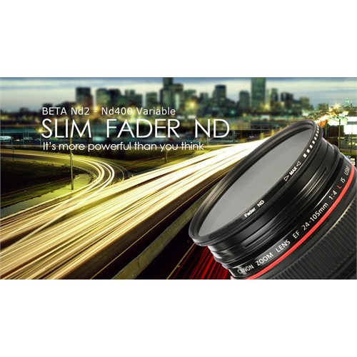 Beta 58Mm Slim Fader Variable Nd2 - Nd400 Filtre Nd 1-8 Stop