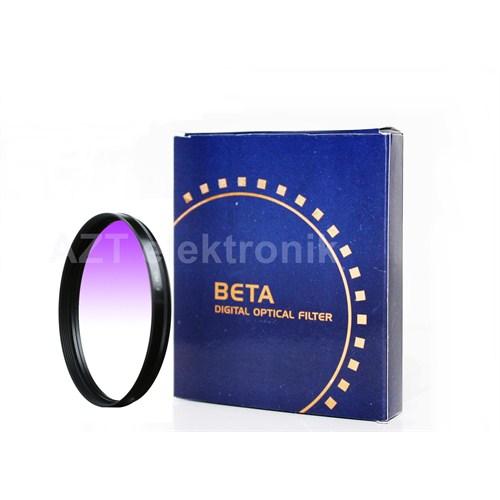 Beta 72Mm Gradual Degrade Kademeli Purple Mor Gündoğumu Filtre