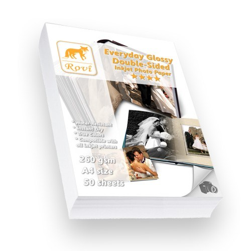 Rovi Everyday Parlak Çift Taraflı Fotoğraf Kağıdı - 260Gsm - 50Yp - A4