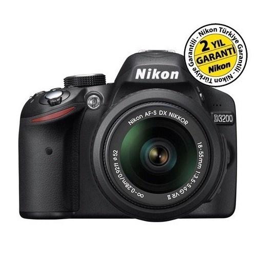 Nikon D3200 18-55 VR II KIT Profesyonel Fotoğraf Makinesi