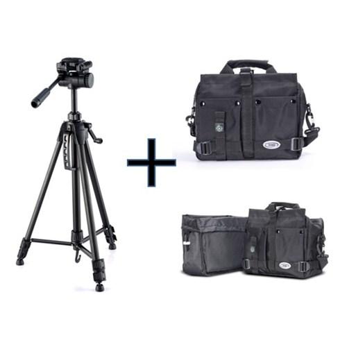 Iconic ZOOM170 SLR Kamera Çantası+170cm Tripod(Taşıma Çantası Hediyeli)