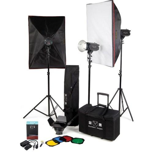 Golden Eagle 600-E Kit Profesyonel 3'Lü Paraflash Set