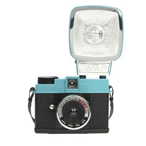 Lomography Diana Mini Ve Flaş Analog Fotoğraf Makinesi Mavi Siyah